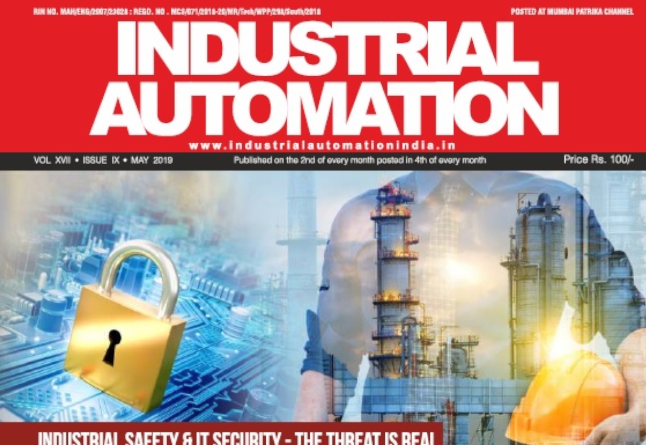 Industrial Automation Magazine (May 2019) GrassDew Cybersecurity Article Image